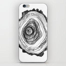 Tree Rings - Light iPhone Skin