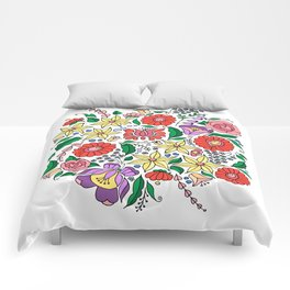 Hungarian embroidery motifs Comforters