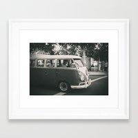 volkswagen Framed Art Prints featuring Volkswagen by Monica Galvan