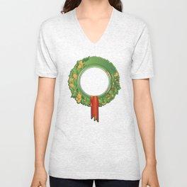 Holiday Wreath Unisex V-Neck