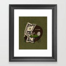 Pick up line Framed Art Print