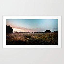 Evening mist Art Print