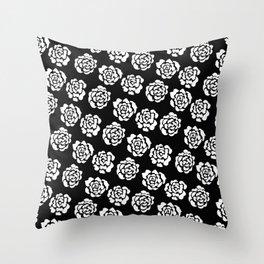 Roses pattern II Throw Pillow
