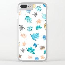 Leaf pattern Clear iPhone Case