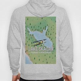 Lake Skadar travel map. Hoody