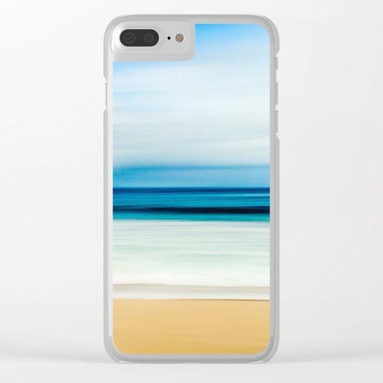 Peaceful ocean waves Clear iPhone Case