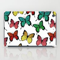 butterflies iPad Cases featuring Butterflies by Julia Badeeva