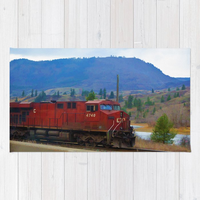 The Columbia Line Train Run Rug