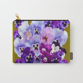 COLORFUL SPRING  PANSIES GARDEN COLLECTION Carry-All Pouch