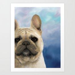 French Bulldog Dog 158 Art Print