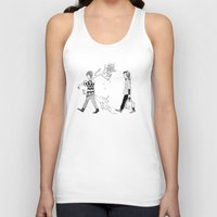 shopping Tank Tops featuring Wood shopping by Skribblie