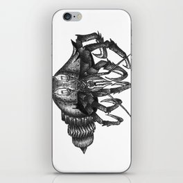 Steampunk angry crab iPhone Skin