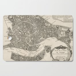 Vintage Map of Venice Italy (1764) Cutting Board