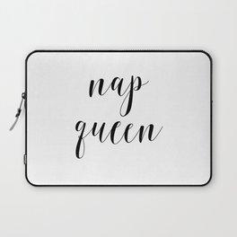 Nap Queen, Nap Sleep Quote, Typography, Girl Room Decor, Scandinavian, Wall Art Laptop Sleeve