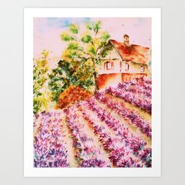 Summer in Provence Art Print