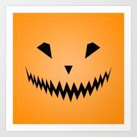 Halloween Smile Art Print
