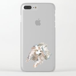 watercolor dog vol 14 samoyed Clear iPhone Case