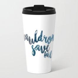 A Court of Mist and Fury- Cauldron Save Me (Plain Blue) Travel Mug