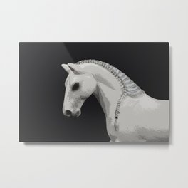 Horse with a Braided Mane Metal Print