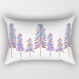 Pine Trees – 90s Color Palette Rectangular Pillow