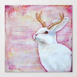 White Jackalope Canvas Print