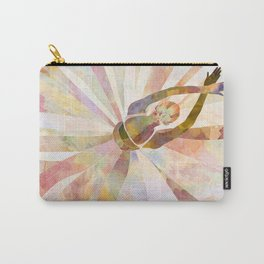 Sleeping Ballerina Floral - Gold Summer Palette Carry-All Pouch