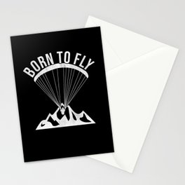 Born To Fly Paragliding Stationery Cards