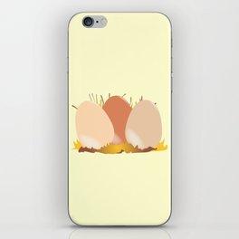 Three Chicken Eggs iPhone Skin