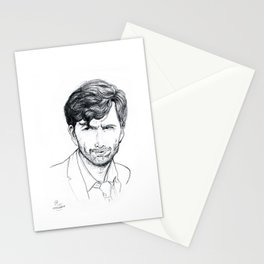 David Tennant as Broadchurch's Alec Hardy (or Gracepoint's Emmett Carver) Etching Stationery Cards