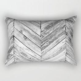 Antique Wood Rectangular Pillow