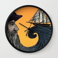 wizard Wall Clocks featuring Wizard by Brittany Rae