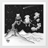 finn and jake Art Prints featuring finn & jake by jasminevn