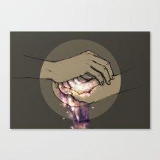 Hand Galaxy Canvas Print