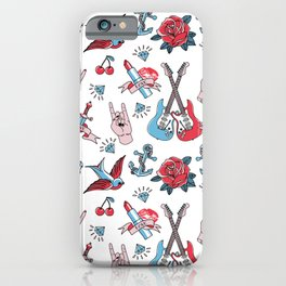 Old School Tattoo Love Rock iPhone Case