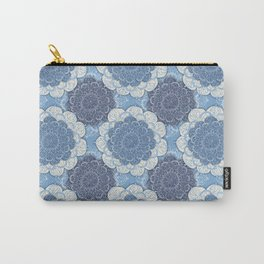 Lacy Blue & Navy Mandala Pattern  Carry-All Pouch