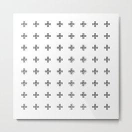 Geometric Swiss Cross Pattern Metal Print