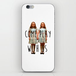 Come play with us iPhone Skin