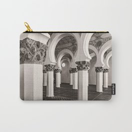 The Historic Arches in the Synagogue of Santa María la Blanca, Toledo Spain (3) Carry-All Pouch
