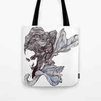 wings Tote Bags featuring Wings by Ilariabp.art