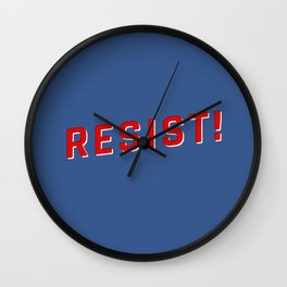 Resist Injustice! Wall Clock