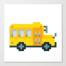 Pixel School Bus Canvas Print
