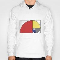 fibonacci Hoodies featuring Mondrian vs Fibonacci by Psocy Shop