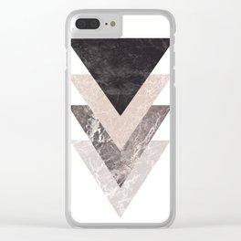 Triangle Shape Modern Print Clear iPhone Case