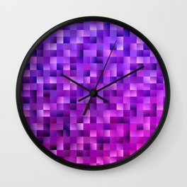 Geometrical abstract square background Wall Clock