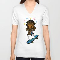 groot V-neck T-shirts featuring groot groot groot.... by Ziqi