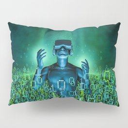 Virtual Dawn Pillow Sham