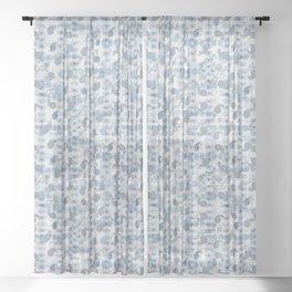 Blue Paisley Fantasy Sheer Curtain