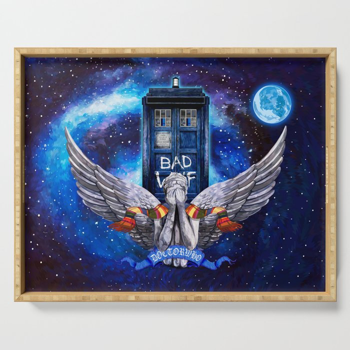 The Angel with Tardis Serving Tray