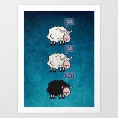 Bored Sheep Art Print