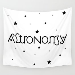 Astronomy Ambigram Wall Tapestry